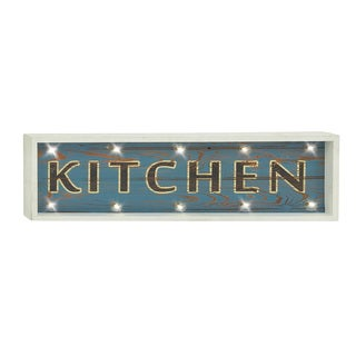 """LED Distressed Wood """"Kitchen"""" Wall Sign"""