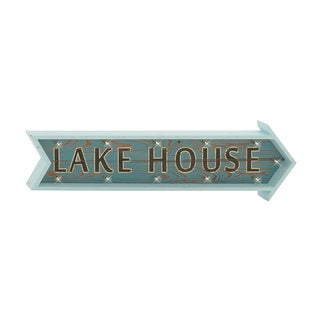 "Wood LED Wood ""Lake House"" Wall Sign"