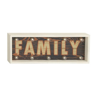 LED Wood Family Sign