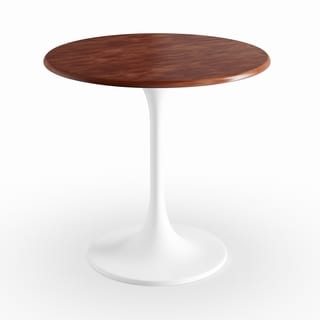 Flower Walnut Wood Round 30 Inch Table