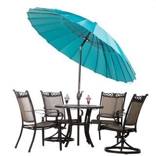 Abba Push Button Tilt and Crank 8.5 Foot Parasol Patio Umbrella