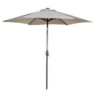 Abba Patio Market Outdoor Aluminum Tilt and Crank Patio Umbrella (9 Feet) (2 options available)