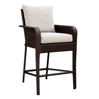 Furniture of America Hailey Espresso Outdoor Bar Chair (Set of 2)