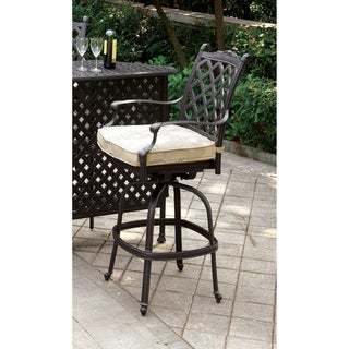 Furniture of America Tessa Patio Bar Chair (Set of 2)