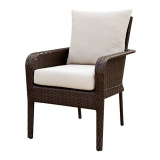 Furniture of America Lissie Espresso Outdoor Dining Chair (Set of 2)