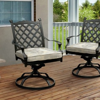 Furniture of America Camille Outdoor Metal Rocking Chair (Set of 2)