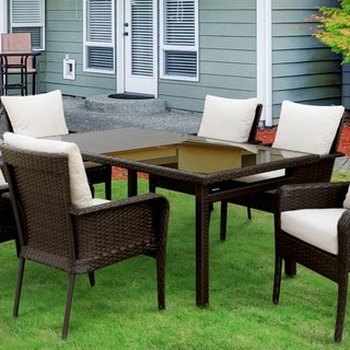 Furniture of America Lissie Espresso Outdoor Dining Table