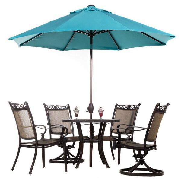 Abba Patio Auto Tilt/ Crank Sunbrella 9 Foot Patio Umbrella (Refurbished)