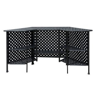 Furniture of America Tessa Patio Metal Bar Table
