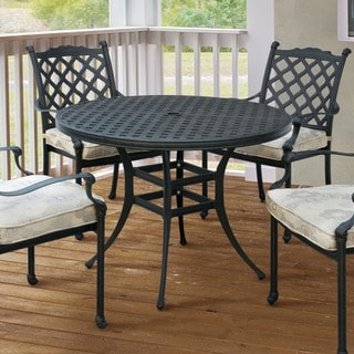 Furniture of America Camille Outdoor Metal Round Dining Table
