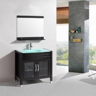 Belvedere 36 Inch Modern Single Sink Bathroom Vanity Set