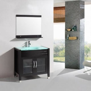 Belvedere 36-inch Modern Single Sink Bathroom Vanity Set with Mirror