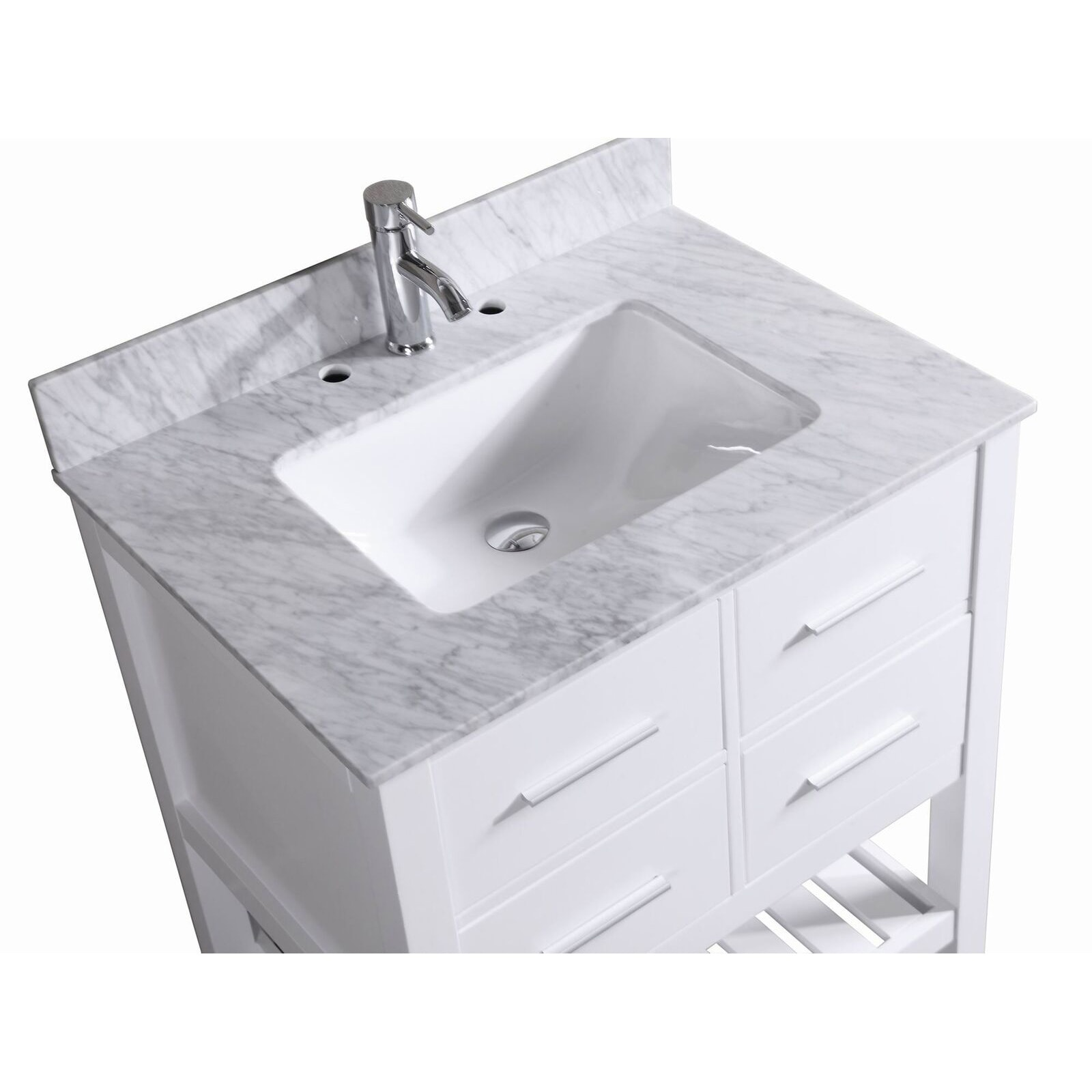 30 Inch Belvedere Bathroom Vanity With Marble Top (2 Options Available)