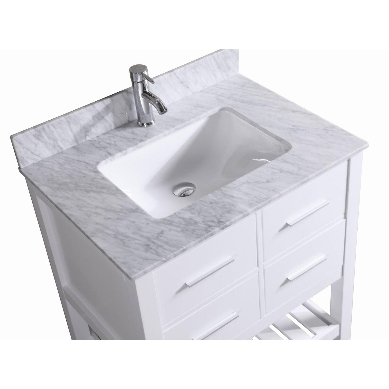 30 Inch Belvedere Bathroom Vanity With Marble Top