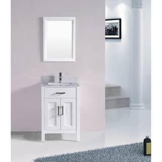 24 Inch Belvedere Bathroom Vanity Set With Marble Top Option