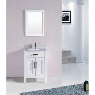 24 Inch Belvedere Bathroom Vanity Set With Marble Top