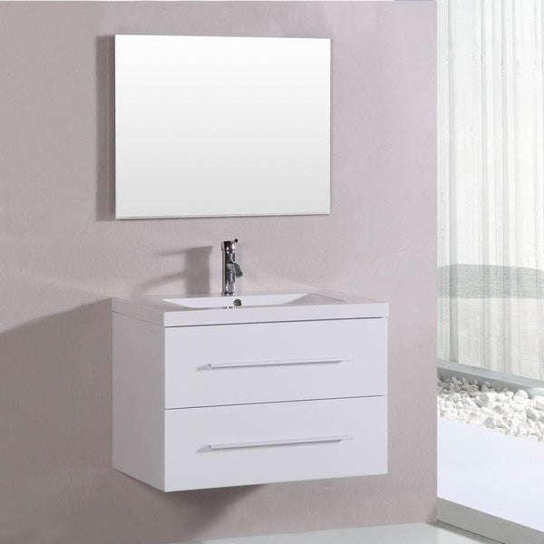 Belvedere 32 Inch Contemporary White Floating Single Vanity