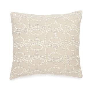 BiniChic Terracotta Embroidered Mosaic Decorative Throw Pillow