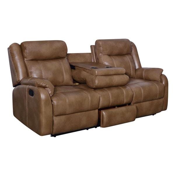 Global Furniture Blanche Walnut Console Reclining Sofa