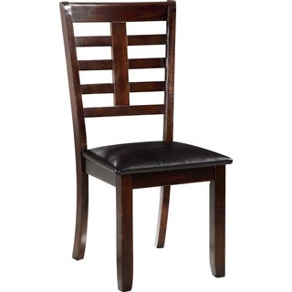 Global Furniture PU Leather Dark Brown Dining Chair