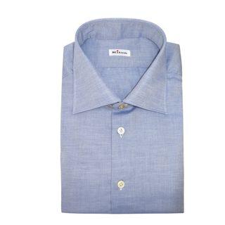 Kiton Blue Chambray Dress Shirt