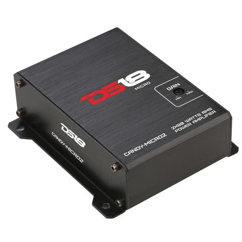 DS18 CANDY-MICRO2 320W 2x80 Watts RMS 2 Channel Full Range Micro Amplifier for Car/Motorcycle/ATV