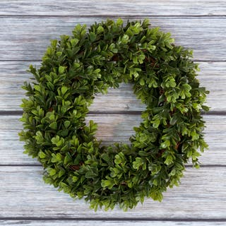 Pure Garden Boxwood Wreath - 14 inch Round|https://ak1.ostkcdn.com/images/products/11690550/P18615974.jpg?impolicy=medium