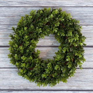 Pure Garden Boxwood Wreath - 14 inch Round