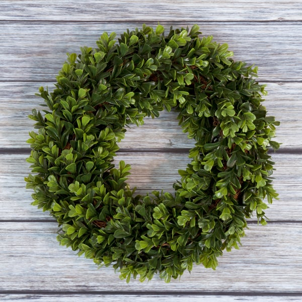Pure Garden Boxwood Wreath 14 inch Round. Opens flyout.