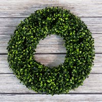 Pure Garden Boxwood Wreath - 16.5 inch Round