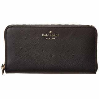 Kate Spade New York Cherry Lane Lacey Black Leather Wallet
