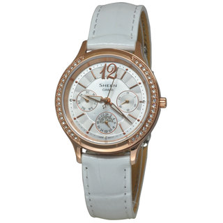 Casio Women's SHE3030GL-7A Sheen White Watch