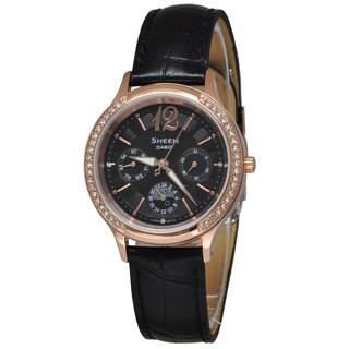 Casio Women's SHE3030GL-5A Sheen Black Watch