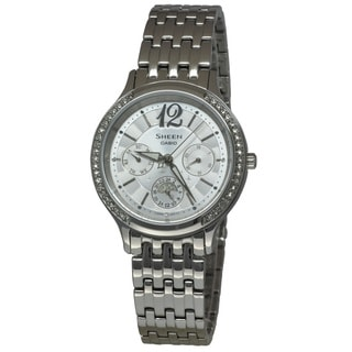 Casio Women's SHE3030D-7A Sheen White Watch