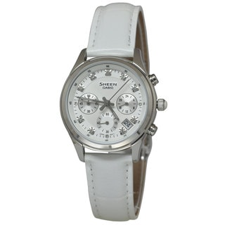 Casio Women's SHE5023L-7A Sheen White Watch