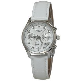 Casio Women's SHE5023L-7A Sheen White Watch