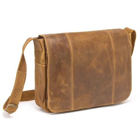 LeDonne Leather Distressed Leather Laptop Messenger