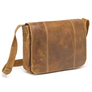 Link to LeDonne Leather Distressed Leather Laptop Messenger Similar Items in Backpacks