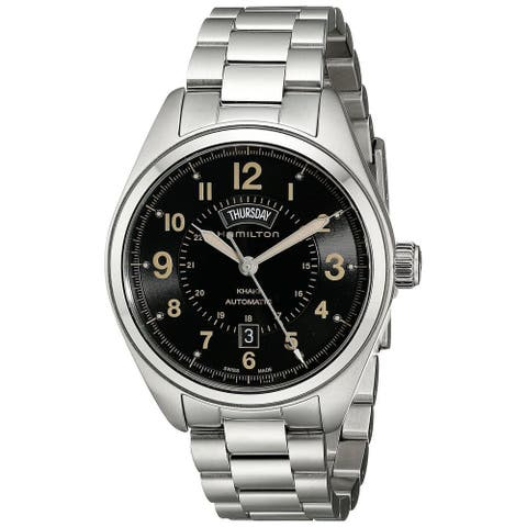 Hamilton Men's H70505933 'Khaki Field' Automatic Stainless Steel Watch