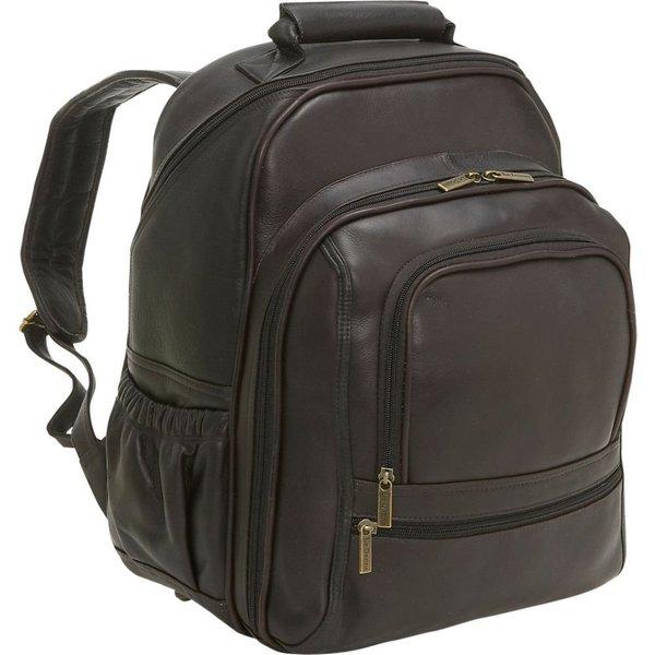 LeDonne Leather Vaqueta Large 15.4-inch Laptop Backpack - Free ...