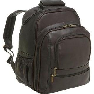 LeDonne Leather Vaqueta Large 15.4-inch Laptop Backpack