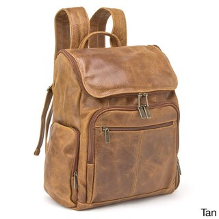 LeDonne Leather Distressed Leather Original 15.4-inch Laptop Backpack (Option: Beige)