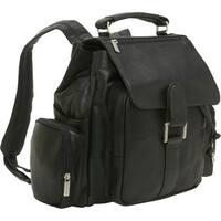 LeDonne Leather Classic Multi Pocket Backpack
