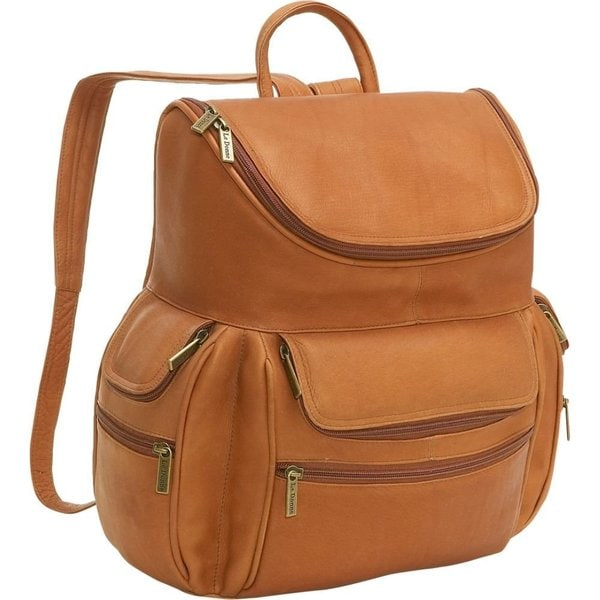 LeDonne Leather 15-inch Laptop Backpack - Free Shipping Today ...