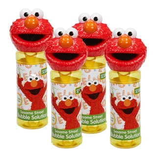 Sesame Street 4-Piece Bubble Heads with Wand