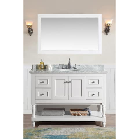 "Cape Cod 48"" Bathroom Vanity White Finish"