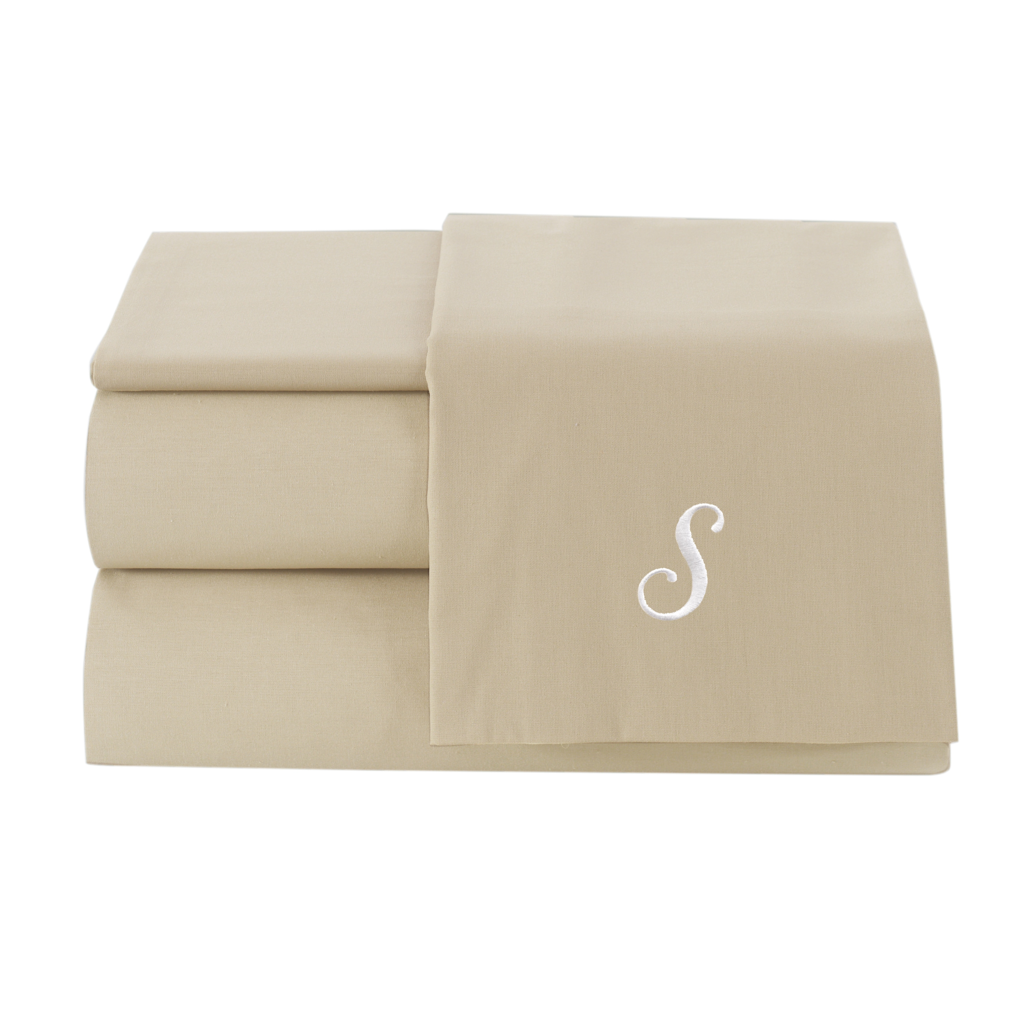 Linum Home Textiles Pamuk Luxury Monogrammed Sand Beige S...