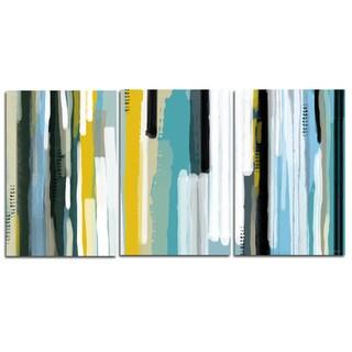 Maxwell Dickson 'Ocean Triptych ' Modern Canvas Wall Art