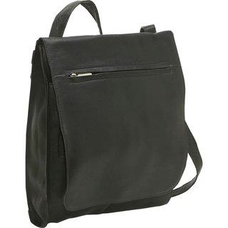 LeDonne Leather Convertible Messenger Bag/Backpack
