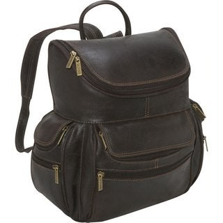 LeDonne Leather Distressed Leather Laptop Backpack